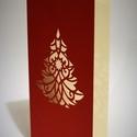 Karácsonyi_képeslap, Dekoráció, Ünnepi dekoráció, Karácsonyi, adventi apróságok, Ajándékkísérő, képeslap, Egyedi illusztrációval készült - karácsonyi hangulatú -áttört mintás képeslap, betétlappal és boríté..., Meska