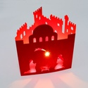 Betlehem Mécses, Teamécsessel megvilágítható, karácsonyi motí...