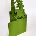 Hintaló_karácsonyi képeslap, Egyedi illusztrációval készült - karácsonyi h...