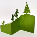 Meglepetés_Harmonika képeslap, Egyedi illusztrációval készült - karácsonyi h...