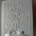 Mr és Mrs - esküvői meghívó virágokkal, Esküvő, Naptár, képeslap, album, Meghívó, ültetőkártya, köszönőajándék, Képeslap, levélpapír, Nagy öröm számomra, hogy ilyen csodás mintával készíthetek meghívót...: )  Készülhet nyitható alapra..., Meska