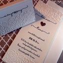 Vadvirágok - esküvői meghívó és ültetőkártya, Esküvő, Naptár, képeslap, album, Meghívó, ültetőkártya, köszönőajándék, Képeslap, levélpapír, Friss, natúr kollekció, matt kartonon, dombormintával.  Kérhető a képen látottól eltérő, bármely, bo..., Meska