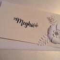 Madártej - esküvői meghívó, Esküvő, Naptár, képeslap, album, Meghívó, ültetőkártya, köszönőajándék, Képeslap, levélpapír, Kártyaformátumban, minimál dizájnnal, szép virágmintával készítettem meghívó - mintát.  Teljesen Rát..., Meska