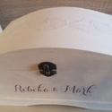 Névre szóló esküvői jókívánságláda, Esküvő, Nászajándék, Esküvői dekoráció, Személyes, egyedi, névre szóló faláda - fehérre festve, két rétegben lakkozva, pipacsmintával díszít..., Meska
