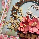 """""""Húsvéti csendélet"""" - képeslap, Naptár, képeslap, album, Képeslap, levélpapír, A scrapbook technikával készített képeslap mérete: 150mm x 150mm. Hozzá illő borítékkal, á..., Meska"""