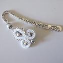 Fehér ezüst sujtjás könyvjelző - antik ezüst