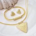 """Vanília háromszög szett, Ékszer, Esküvő, Esküvői ékszer, Karkötő, A """"Hétköznapi kedvencek"""" kollekció vanília szettje. A szett darabjait kiváló minőségű japán delicábó..., Meska"""