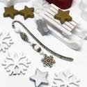 Akció -30% Hópihe könyvjelző fehér gyöngyökkel - antik ezüst, Most 30%-os kedvezménnyel, 990.-Ft helyett 690.-F...
