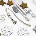 Akció -30% Karácsonyfa könyvjelző fehér és krém gyöngyökkel - antik ezüst, Most 30%-os kedvezménnyel, 990.-Ft helyett 690.-F...