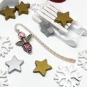 Akció -30% Shamballa angyalkás csillogó könyvjelző rózsaszín gyöngyökkel - antik ezüst, Most 30%-os kedvezménnyel, 990.-Ft helyett 690.-F...