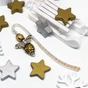 Akció -30% Shamballa angyalkás csillogó könyvjelző arany gyöngyökkel - antik ezüst, Most 30%-os kedvezménnyel, 990.-Ft helyett 690.-F...
