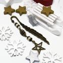 Akció -30% Karácsonyi csillag könyvjelző krém gyöngyökkel - antik ezüst, Most 30%-os kedvezménnyel, 990.-Ft helyett 690.-F...