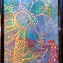 Próbálkozások, Képzőművészet, Festmény, Akril, Festészet, 11*16 cm-es akril festmény. Fekete, álló, asztali kerettel.  , Meska
