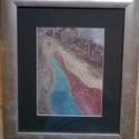 Artemisz bevonulása, Képzőművészet, Festmény, Akril, Festészet, 35*41 cm-es akril festmény, aranyporral. Fekete paszpartuval és ezüst színű kerettel., Meska