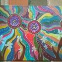 Újvilág, Képzőművészet, Festmény, Akril, 24*18 cm-es akril festmény, Meska