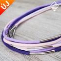 - Amazon - nyaklánc lila színekben, Ékszer, Nyaklánc, Divatos nyaklánc, 7 db paracord szálból, melyek eltérő hosszúságúak, így szebben mutatnak. Minden sz..., Meska
