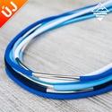- Amazon - nyaklánc kék színekben, Ékszer, Nyaklánc, Divatos nyaklánc, 7 db paracord szálból, melyek eltérő hosszúságúak, így szebben mutatnak. Minden sz..., Meska
