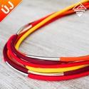 - Amazon - nyaklánc tűz színekben, Ékszer, Nyaklánc, Divatos nyaklánc, 7 db paracord szálból, melyek eltérő hosszúságúak, így szebben mutatnak. Minden sz..., Meska