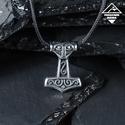 - Thor kalapács - acél medál paracord szálon, Férfiaknak, Ékszer, kiegészítő, A Mjölnir a skandináv mitológiában Thor villámisten ősi fegyvere volt. Ha Thor megforgatta kalapácsá..., Meska