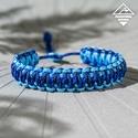 - Kék hullám - 2 IN 1 állítható méretű paracord karkötő , Ékszer, Férfiaknak, Karkötő, Ékszer, kiegészítő, A népszerű Királykobra fonás újragondolása ez a karkötő. 2 IN 1: ami azt jelenti, hogy ki is fordíth..., Meska