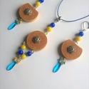 Johanna parafa ékszerszett kék-sárga gyöngyökkel