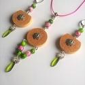 Johanna parafa ékszerszett szeder-zöld színű gyöngyökkel, Ékszer, Ékszerszett, Nyaklánc, Ékszerkészítés, Johanna szett a tavasz színeiben :) :)  A szett tartalma egy virágos gyöngykupakkal díszített paraf..., Meska