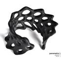 Hexagon cuff 3d nyomtatott karkötő (fekete) (parametricart) - Meska.hu