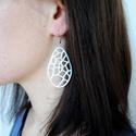 Voronoi generatív 3d nyomtatott fülbevaló (fehér) (parametricart) - Meska.hu