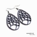 Voronoi generatív 3d nyomtatott fülbevaló (szürke) (parametricart) - Meska.hu