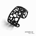 Voronoi simple cuff 3d nyomtatott karkötő (fekete) (parametricart) - Meska.hu