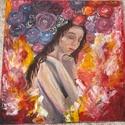 Önszeretet, Művészet, Festmény, Akril, Festészet, Akril festmény 50x50-es vászon Nagyon fontos, hogy rendszeresen töltsünk időt saját magunk társaság..., Meska