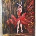 A balerina, Művészet, Festmény, Akril, Festészet, Akril, 50x40-es vászon Mindig is csodáltam, ahogy a balett táncosok kecses mozdulataikkal mennyi ér..., Meska