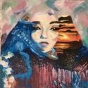 A mindenség, Művészet, Festmény, Akril, Festészet, Akril, 50x50-es keret Ennek a színes, élettel teli képnek a festését élveztem eddig a legjobban. Ki..., Meska