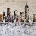 New York, Művészet, Festmény, Akril, Festészet, Több féle méretben is rendelhető más színekben is. Kitűnő ajándék vagy dekoráció lehet bárkinek. A ..., Meska