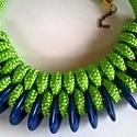 Green sky Paracord nyaklánc, Ékszer, óra, Nyaklánc, Csomózás, Csomózott, egyedi nyaklánc nem csak fiataloknak, kortalan, vagány, figyelemfelkeltő:-)  Hosszúság: ..., Meska