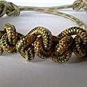 Kacska-ringó paracord nyaklánc, Ékszer, óra, Nyaklánc, Fényló zöldes-sárga paracord nyaklánc.  Hossza: 68 centiméter, Meska