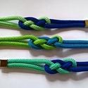 Variációk zöldre és kékre, Ékszer, Karkötő, A kékek és zöldek, mint kedvenc színek játéka egy  kelta csomós karkötőn. Hossz: cca 19,5-20 centi k..., Meska