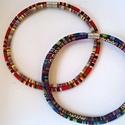Unisex ethnic  cord nyaklánc, Ékszer, óra, Nyaklánc, Ethnic cordból készült duplaszálas unisex nyaklánc. Hossza: külső szál 50 centi, belméret cca 47-47-..., Meska