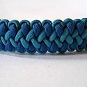 Carribbean blue for men/karibi kék karkötő férfiaknak, Férfiaknak, Ékszer, kiegészítő, Paracord550-ből készített karkötő férfiaknak.   Színek: karibi kék és világoskék Hossza: ..., Meska