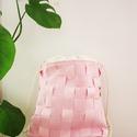 Pink gymbag, Táska, Hátizsák, Varrás, Vízálló anyagból készült hátizsák. Nagy belső zsebbel. Pántja  hajós zsinór,ami extrém strapabíró. ..., Meska