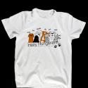 Fehér kutyás póló pasikak - hairy hungarians, Ruha, divat, cipő, Férfi ruha, Fotó, grafika, rajz, illusztráció, 100% pamut pólóra szitanyomással kerültek rá a szőrös magyarok.  Kutyabarát fiúknak és férfiaknak a..., Meska