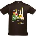 Férfi póló a klasszikus magyar italokkal, Ruha, divat, cipő, Férfi ruha, Fotó, grafika, rajz, illusztráció, Pamut pólóra szitanyomással került rá az italos minta.  S, M, L, XL, XXL  méret van belőle. , Meska