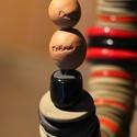 """Kerámia terrakotta """"Red Geisha"""" nyakék., Képzőművészet, Ékszer, Vegyes technika, Nyaklánc, Kerámia, Hihetetlenül dekoratív magával ragadó darab. A lánc hossza: 48 cm. A kapocsnál ráhagytam 10 cm-t ha..., Meska"""