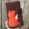 Kicsi róka barna kord irattartó és pénztárca , A mai világban rengeteg kártyával, cédulával,...