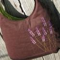 Levendulák csokibarna színű  kord pakolós táska, Szeretem a közepes méretű táskákat, mert korl...