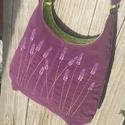 Levendulák padlizsán színű  kord pakolós táska, Táska, Válltáska, oldaltáska, Szeretem a közepes méretű táskákat, mert korlátoznak, hogy mit is vigyek magammal. De sokan a pakoló..., Meska