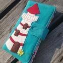 Világítótorony türkiz színű kord irattartó és pénztárca , A mai világban rengeteg kártyával, cédulával,...