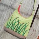 Katicák almazöld színű  kord pakolós táska, Szeretem a közepes méretű táskákat, mert korl...