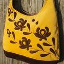 Népiesen mustár színű  kord pakolós táska, Táska, Válltáska, oldaltáska, Szeretem a közepes méretű táskákat, mert korlátoznak, hogy mit is vigyek magammal. De sokan a pakoló..., Meska