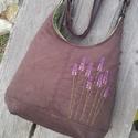 Levendula csokibarna színű  kord pakolós táska, Szeretem a közepes méretű táskákat, mert korl...